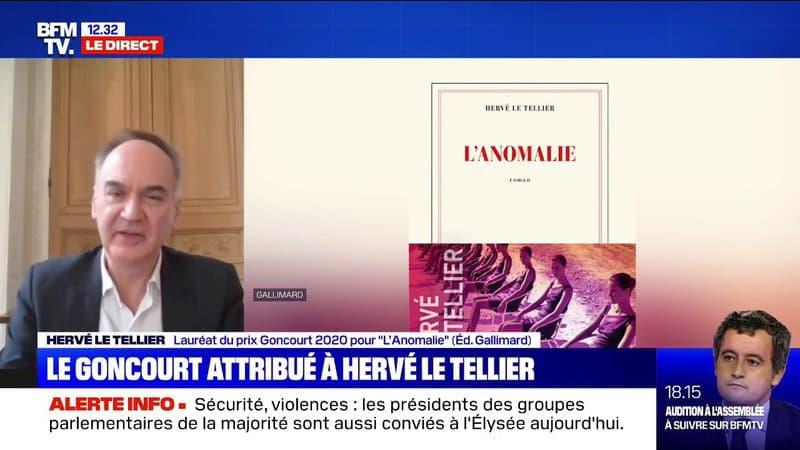 """Hervé Le Tellier, lauréat du Goncourt 2020 pour """"L'Anomalie"""": """"Ça me déplairait d'imaginer ce livre incarner à l'écran"""""""