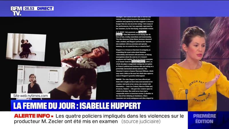 Isabelle Huppert deuxième du classement des meilleurs acteurs du 21ème siècle selon le New York Times