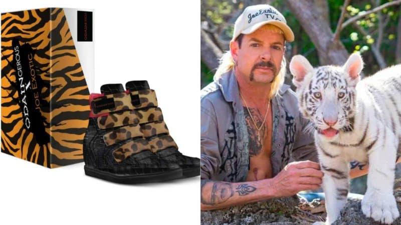 """Joe Exotic sort une ligne de chaussures pour l'anniversaire du documentaire """"Tiger King"""""""