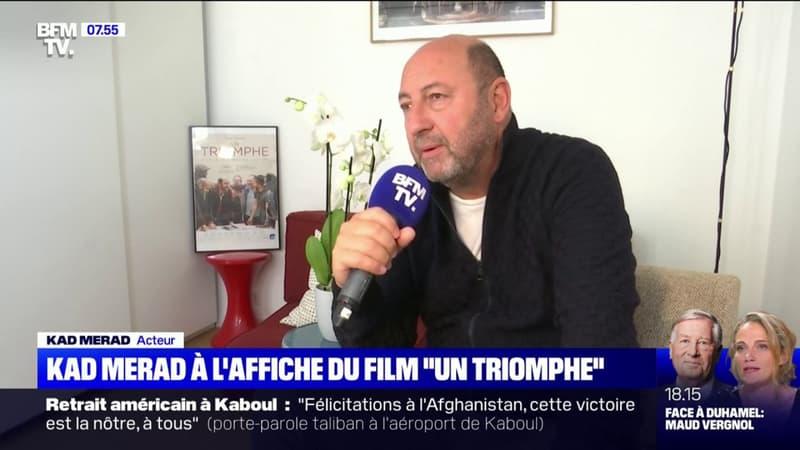 """À l'affiche de """"Un triomphe"""" qui sort ce mercredi, Kad Merad se livre sur BFMTV"""